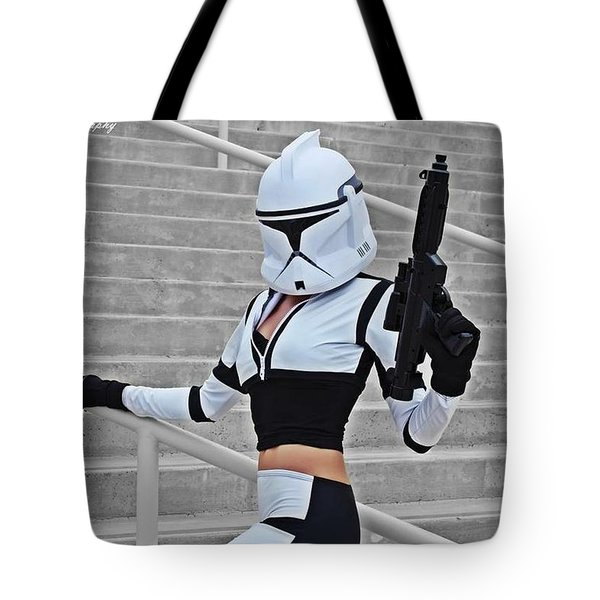 Star Wars By Knight 2000 Photography - Hello Guns Tote Bag