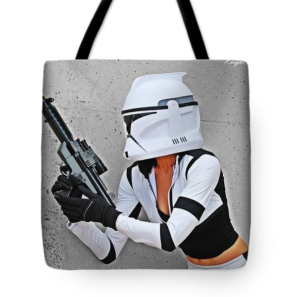 Star Wars By Knight 2000 Photography - Waiting Tote Bag by Laura Michelle Corbin