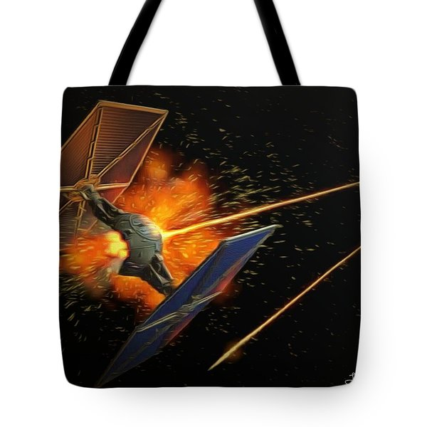 Star Wars Dogfight Tote Bag