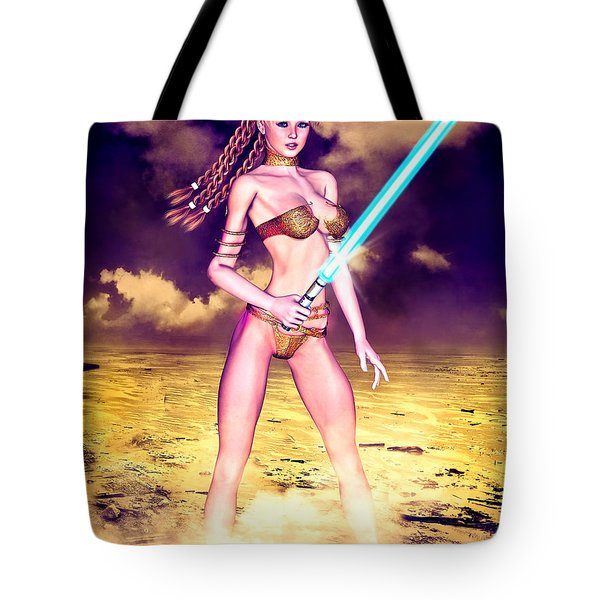 Star Wars Inspired Fantasy Pin-up Girl Tote Bag