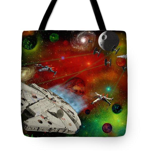 Star Wars Tote Bag by Michael Rucker