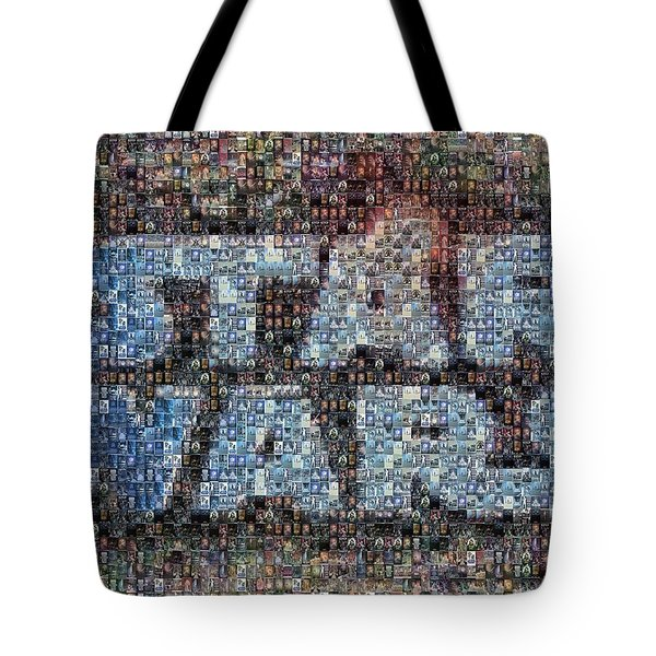 Star Wars Posters Mosaic Tote Bag by Paul Van Scott