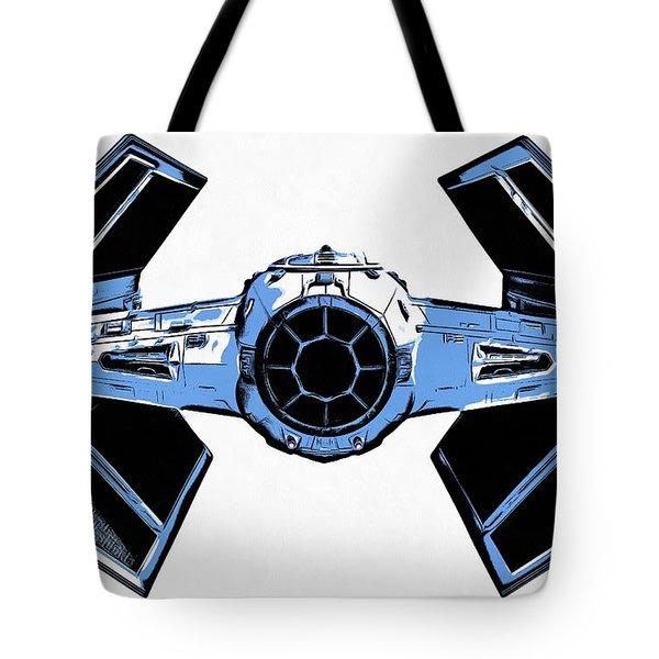 Star Wars Tie Fighter Advanced X1 Tote Bag by Edward Fielding