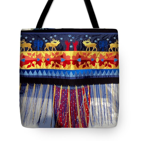 Tote Bag featuring the tapestry - textile Star Whistling by Chholing Taha