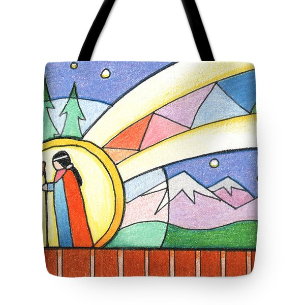 Star Woman Comes To Earth Tote Bag by Amy S Turner