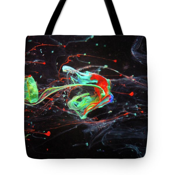 Starborn - Colorful Abstract Art Photography - Paint Pouring Tote Bag by Modern Art Prints