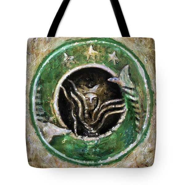 Starbucks Tote Bag by Antonio Ortiz
