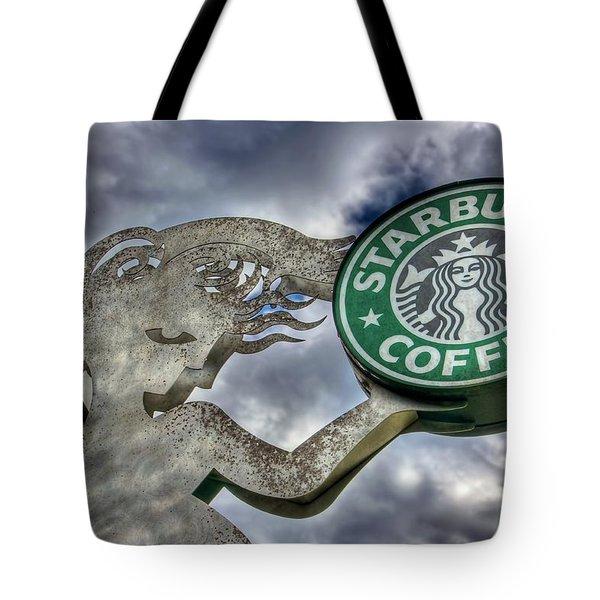 Starbucks Coffee Tote Bag by Spencer McDonald