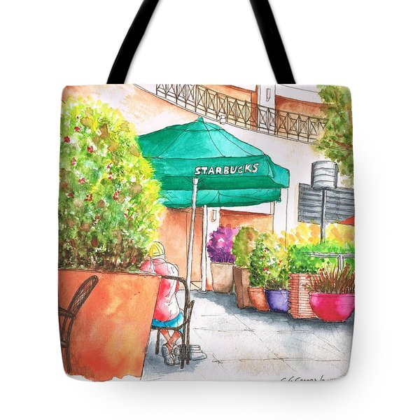 Starbucks Coffee, Sunset Blvd, And Cresent High, West Hollywood, Ca Tote Bag
