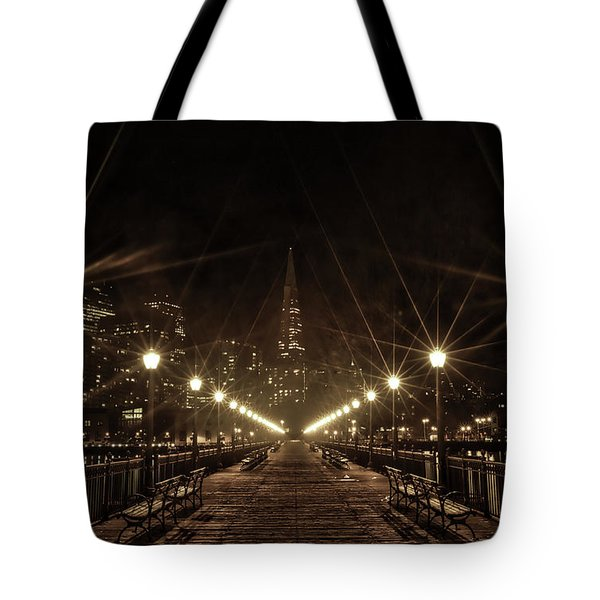 Starburst Lights Tote Bag