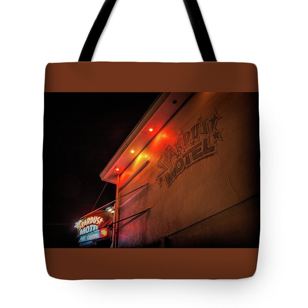 Tote Bag featuring the photograph Stardust Motel by Kristia Adams