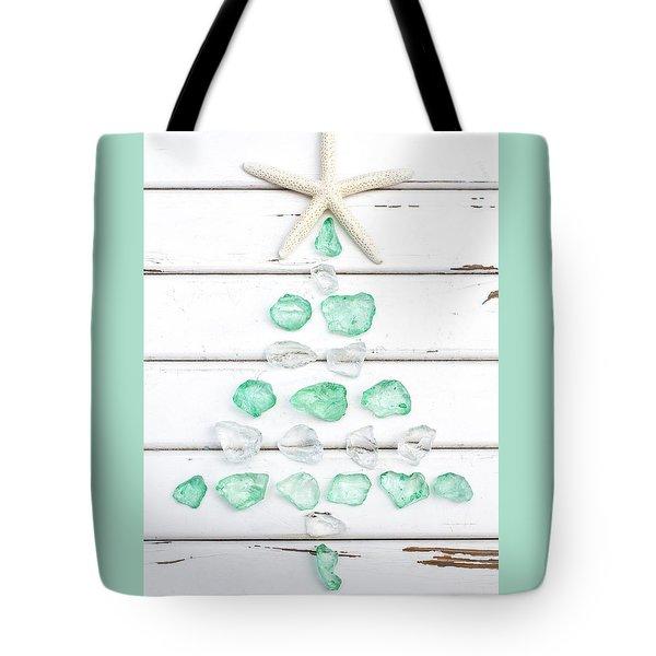 Starfish Christmas Tree Tote Bag