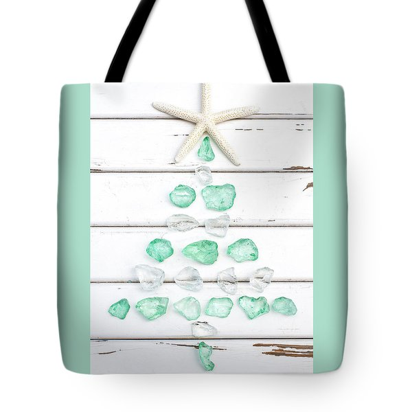 Starfish Christmas Tree Tote Bag
