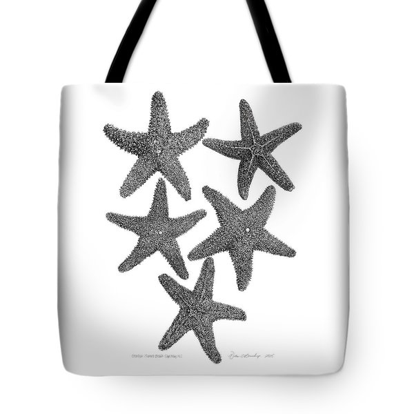 Starfish Drawing Tote Bag