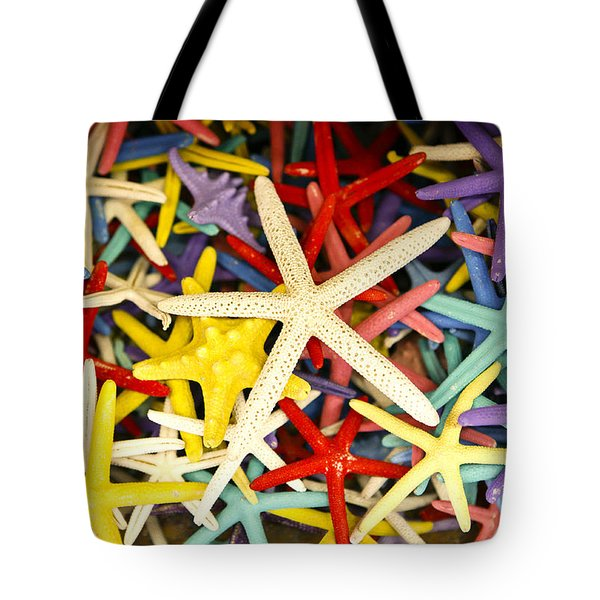Starfish Dressed Up Tote Bag by Marilyn Hunt