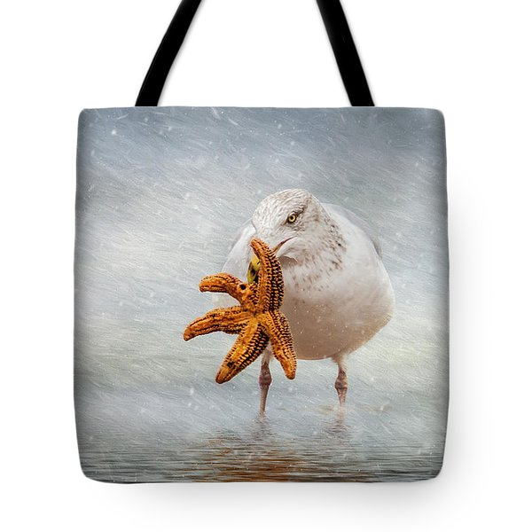 Starfish For Dinner Tote Bag