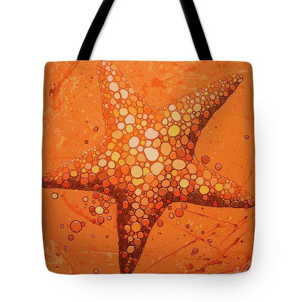 Starfish In Coral Tote Bag