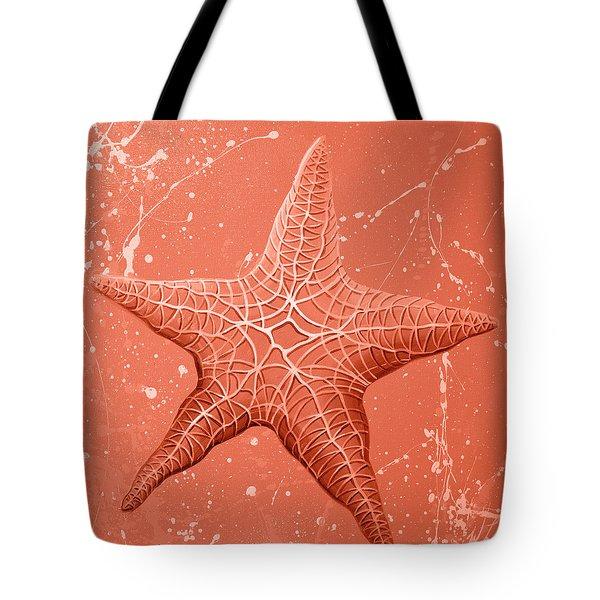 Starfish In Pink Tote Bag