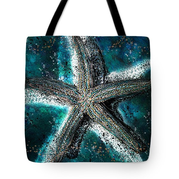 Starfish Ocean Deep Tote Bag by Barbara Chichester