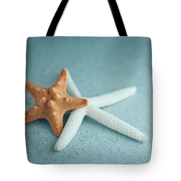 Starfish On Aqua Tote Bag