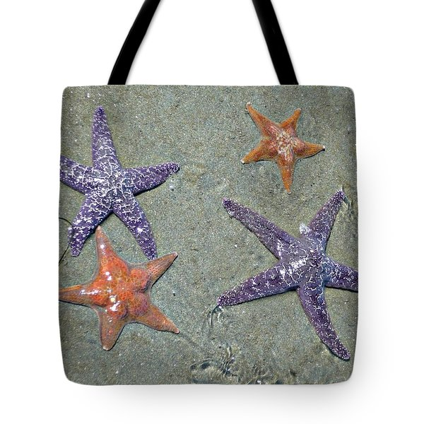 Tote Bag featuring the photograph Starfish Party by 'REA' Gallery