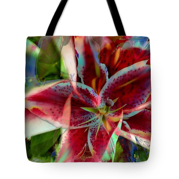Stargazer In Abstract Tote Bag