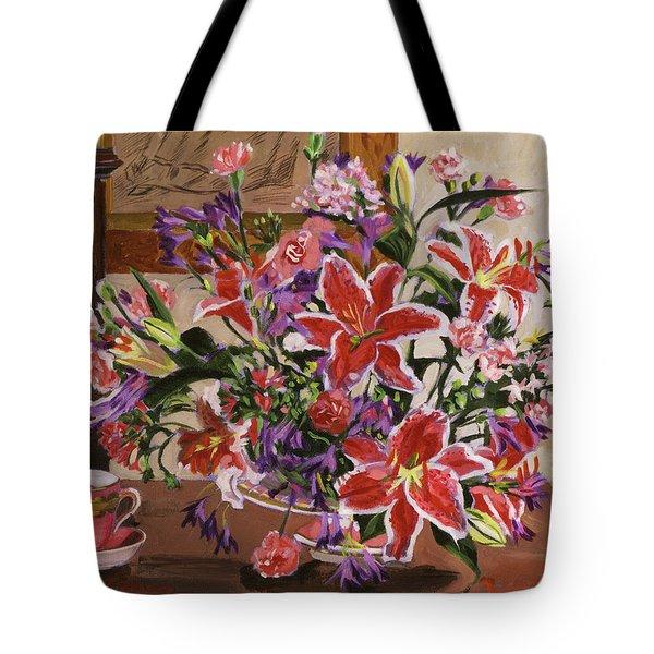 Stargazer Lilies Tote Bag