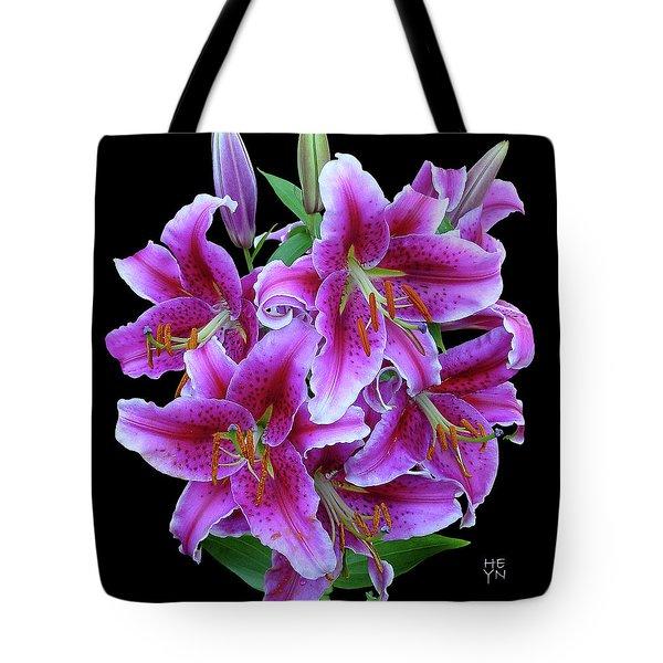 Stargazer Lily Cutout Tote Bag