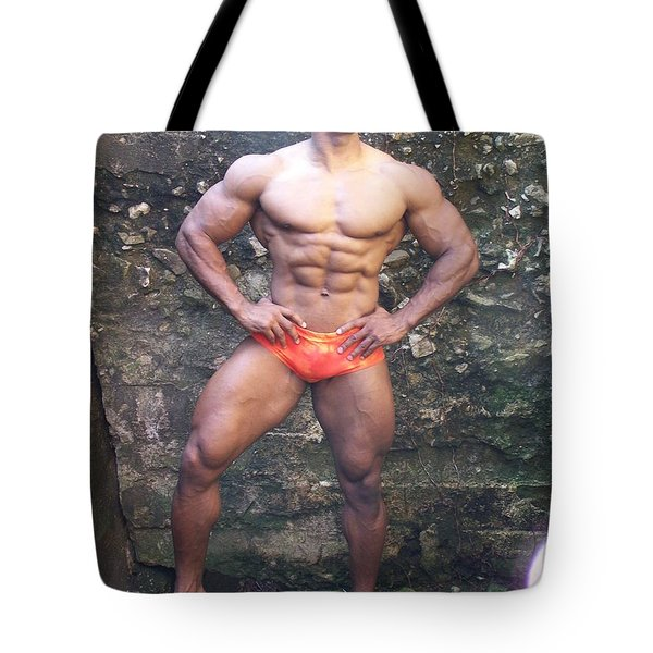 Stargazer  Male Muscle Art Tote Bag by Jake Hartz