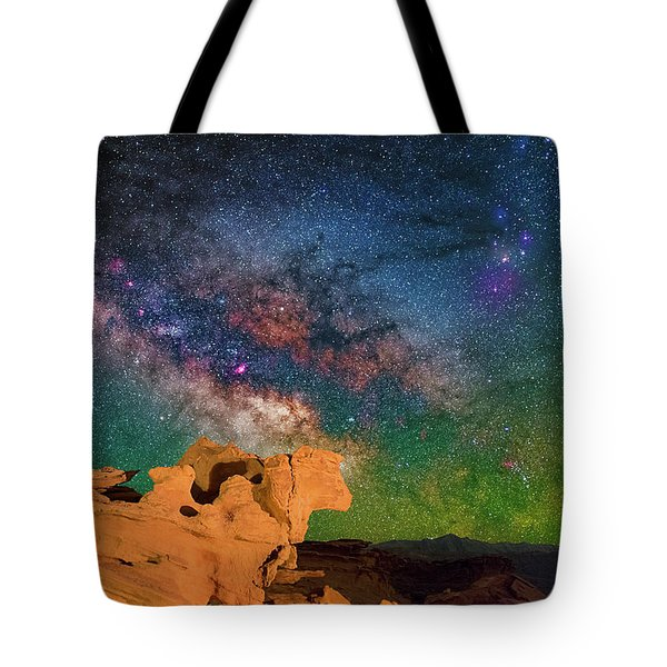 Stargazing Bull Tote Bag