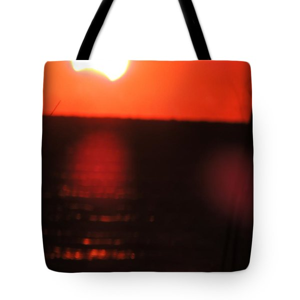 Staring Into A Star Eclipsed Tote Bag
