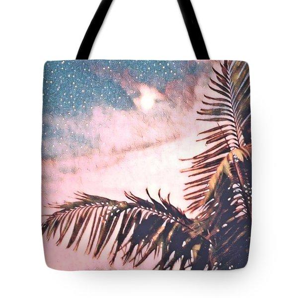 Starlight Palm Tote Bag