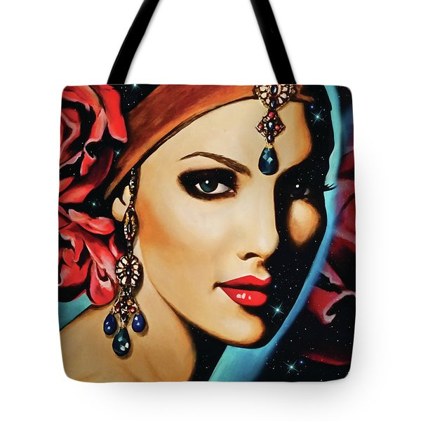 Starlight Rose Tote Bag