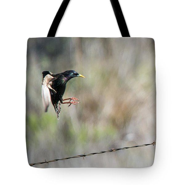 Starling Attack Tote Bag
