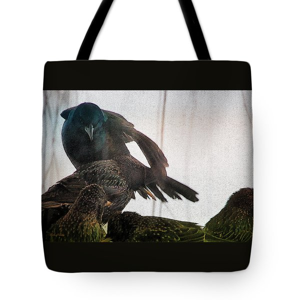 Starlings And The Grackle Tote Bag by Ericamaxine Price