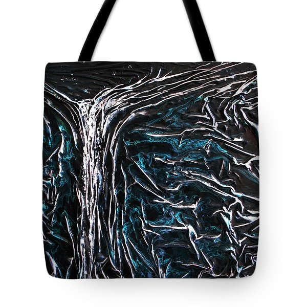 Starlit Waterfall Tote Bag