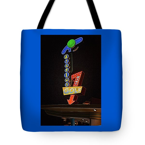 Tote Bag featuring the photograph Starlux Miniature Golf by Kristia Adams