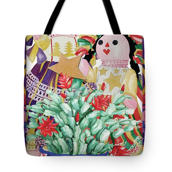 Starring The Christmas Cactus Tote Bag