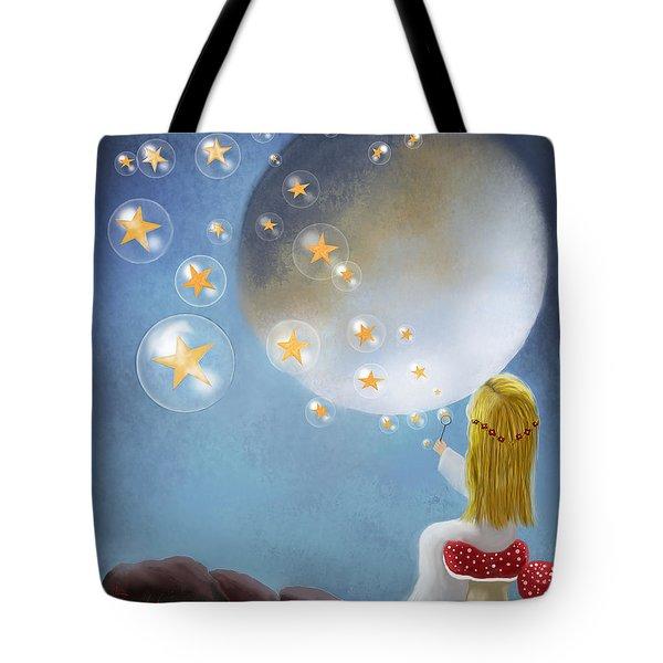 Starry Bubbles By Sannel Larson Tote Bag