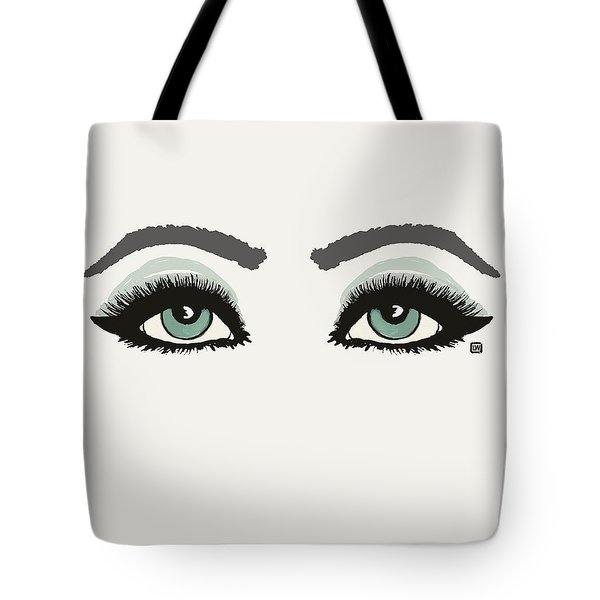 Tote Bag featuring the painting Starry Eyed by Lisa Weedn