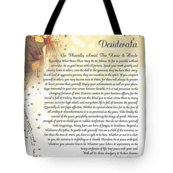Starry Guardian Angel Desiderata Tote Bag
