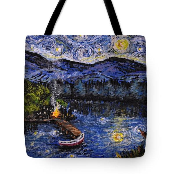 Starry Lake Tote Bag