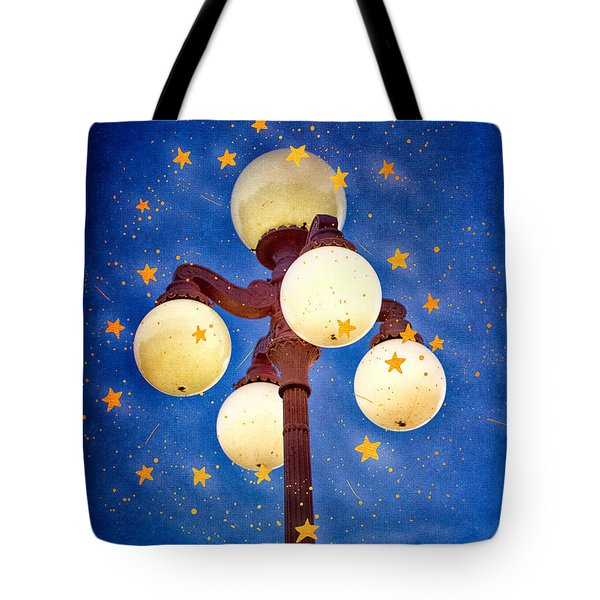 Starry Lamp Lights Tote Bag