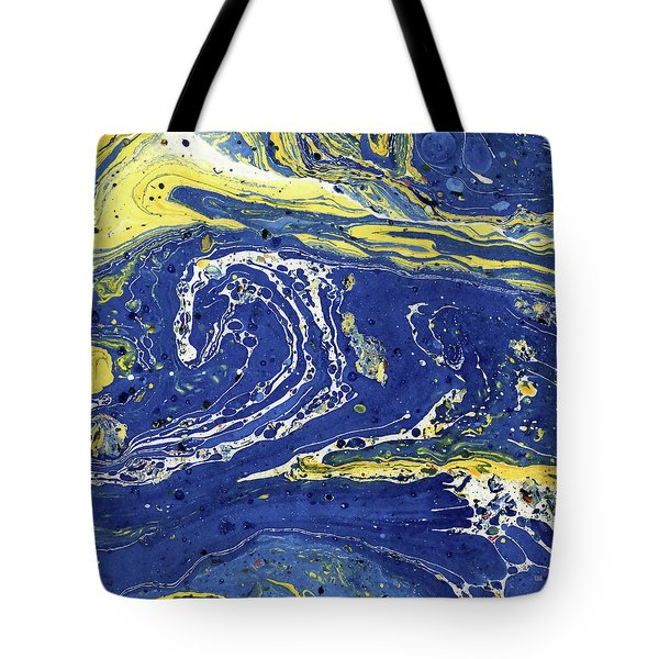 Tote Bag featuring the painting Starry Night Abstract by Menega Sabidussi