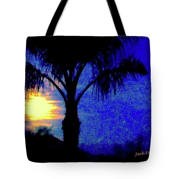 Starry Night At Casapaz Tote Bag by Jack Eadon
