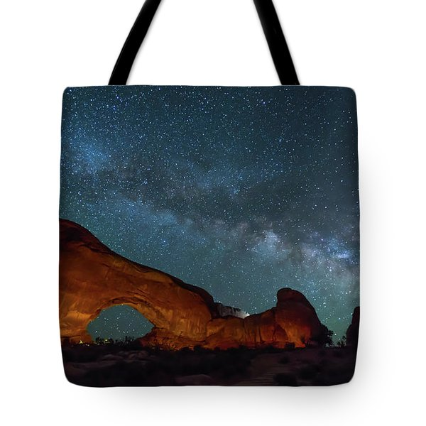 Starry Night At North Window Rock Tote Bag