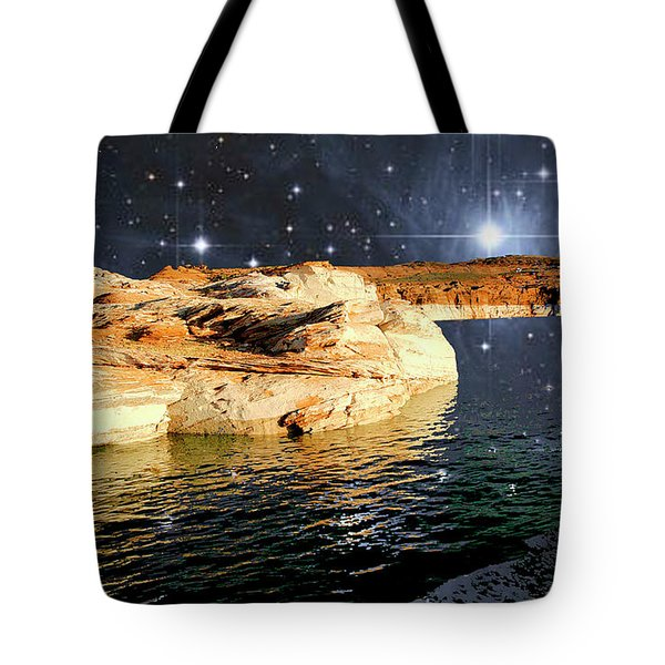Starry Night Fantasy, Lake Powell, Arizona Tote Bag