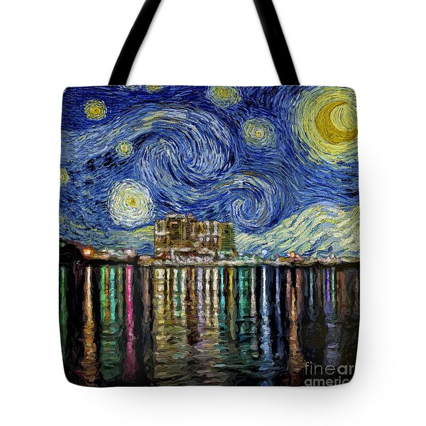 Starry Night In Destin Tote Bag