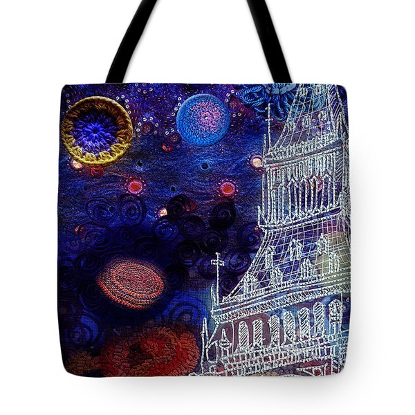 Starry Night In London Tote Bag