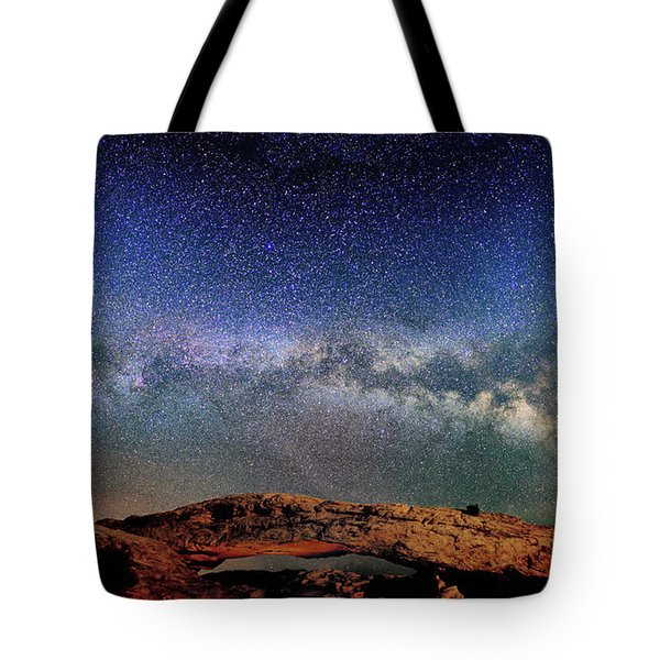Starry Night Over Mesa Arch Tote Bag